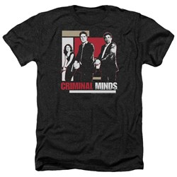 Criminal Minds - Mens Guns Drawn Heather T-Shirt
