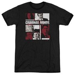 Criminal Minds - Mens Character Boxes Ringer T-Shirt