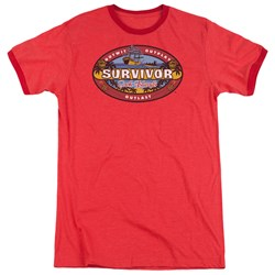 Survivor - Mens Cook Islands Ringer T-Shirt
