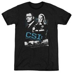 CSI - Mens Investigate This Ringer T-Shirt