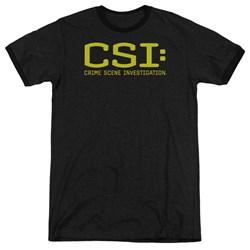 CSI - Mens Logo Ringer T-Shirt
