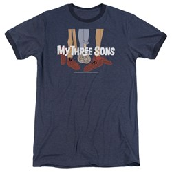 My Three Sons - Mens Shoes Logo Ringer T-Shirt
