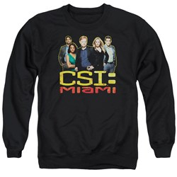 CSI Miami - Mens The Cast In Black Sweater