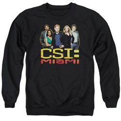 CSI Miami - Mens The Cast In Black Sweater