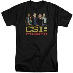 CSI Miami - Mens The Cast In Black Tall T-Shirt