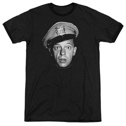 Andy Griffith - Mens Barney Head Ringer T-Shirt