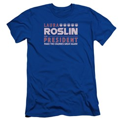 Battlestar Galactica - Mens Roslin For President Slim Fit T-Shirt