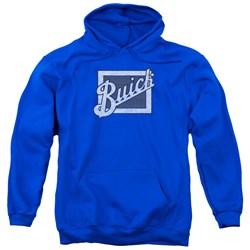 Buick - Mens Distressed Emblem Pullover Hoodie