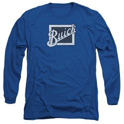 Buick - Mens Distressed Emblem Long Sleeve T-Shirt