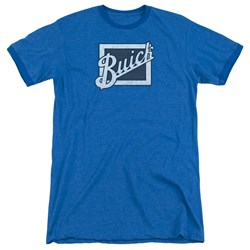Buick - Mens Distressed Emblem Ringer T-Shirt