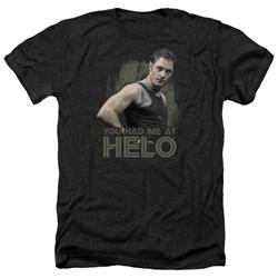 Battlestar Galactica - Mens Had Me At Helo Heather T-Shirt