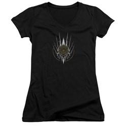 Battlestar Galactica - Juniors Crest Of Ships V-Neck T-Shirt