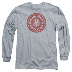 Battlestar Galactica - Mens Eroded Logo Long Sleeve T-Shirt