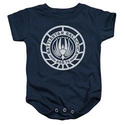 Battlestar Galactica - Toddler Scratched Bsg Logo Onesie