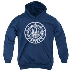 Battlestar Galactica - Youth Scratched Bsg Logo Pullover Hoodie
