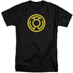 Green Lantern - Mens Yellow Emblem Tall T-Shirt