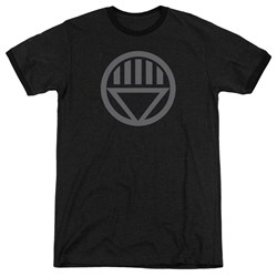Green Lantern - Mens Grey Emblem Ringer T-Shirt