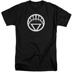 Green Lantern - Mens White Emblem Tall T-Shirt