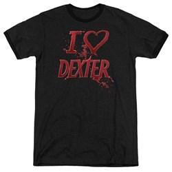 Dexter - Mens I Heart Dexter Ringer T-Shirt