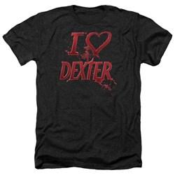 Dexter - Mens I Heart Dexter Heather T-Shirt