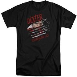Dexter - Mens Blood Never Lies Tall T-Shirt
