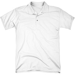 Superman - Mens Pencil City To Space (Back Print) Polo