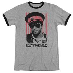 Scott Weiland - Mens Black Hat Ringer T-Shirt