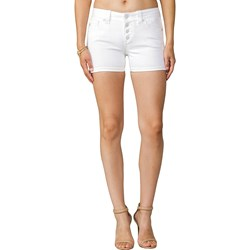 Miss Me - Womens White Mid-Rise Shorts