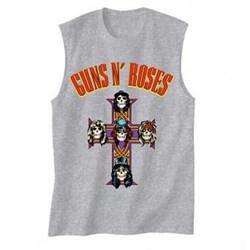 Guns N Roses - Mens Arched Logo Cross Tank Top