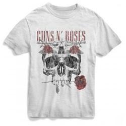 Guns N Roses - Mens Flower Skull T-Shirt