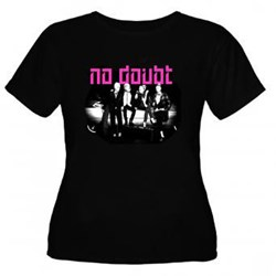 No Doubt - Womens Group Shot On Car T-Shirt