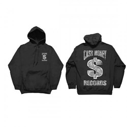 Cash Money Records - Mens Cm Black Bling Hoodie