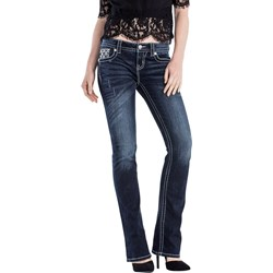 Miss Me - Womens Embellished Back Flap Bootcut Jeans