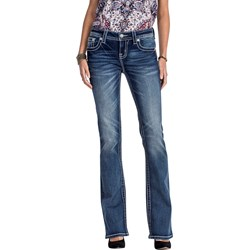 Miss Me - Womens Mid-Rise Bootcut Jeans MP7815B