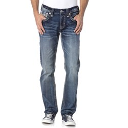 Rock Revival - Mens Acwel J201 Straight Leg Jeans