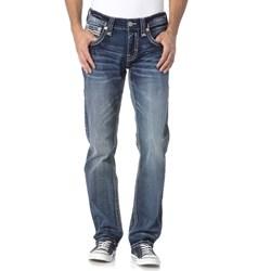 Rock Revival - Mens Acwel J201 Straight Leg Jeans