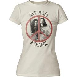 John Lennon - Womens Give Peace A Chance T-Shirt