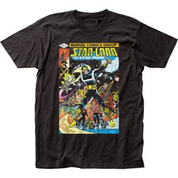Guardians Of The Galaxy - Mens Star-Lord Cover Fitted T-Shirt