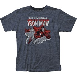 Iron Man - Mens Flying Fitted T-Shirt