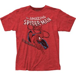 Spider-Man - Mens Spidey Swinging Fitted T-Shirt