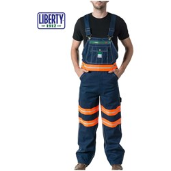 Walls - Mens 18T007 Liberty Bib With Hi-Vis Hi Visibility Tape