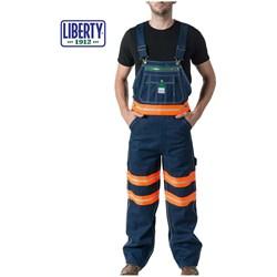 Walls - Mens 18T007 Liberty Bib With Hi-Vis Hi Visibility Tape