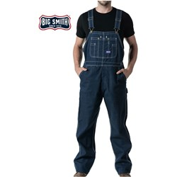 Walls - Mens 94009 Big Smith Rigid Denim Bib Overall
