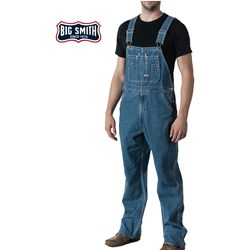 Walls - Mens 94028 Big Smith Stonewashed Denim Bib Overall