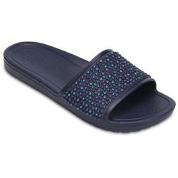 Crocs - Womens Sloane Embellished Slide Sandals