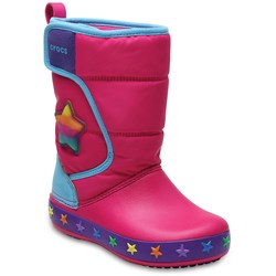Crocs - Unisex-Child Kids' Crocslights Lodgepoint Star Boot