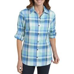 Dickies - Womens Plaid Quarter Sleeve Roll Up Shirt