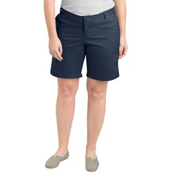 "Dickies - Womens Plus Size RW221 9"" Flat Front Shorts"
