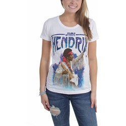 Jimi Hendrix - Womens Liquid Cloud T-Shirt