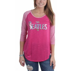 The Beatles - Womens Embellished Logo Jr Raglan Raglan Shirt